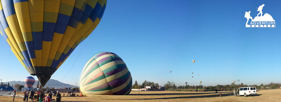 Hot-air balloon ride over the City of Gods